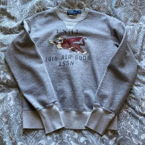 Polo Crewneck Sweatshirt Tiger Logo